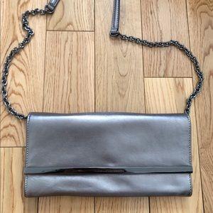 Diane Von Furstenberg clutch silver